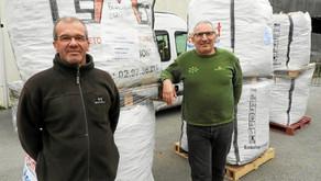 Bouchons du pays de Lorient. 16 m3 de bouchons en liège collectés