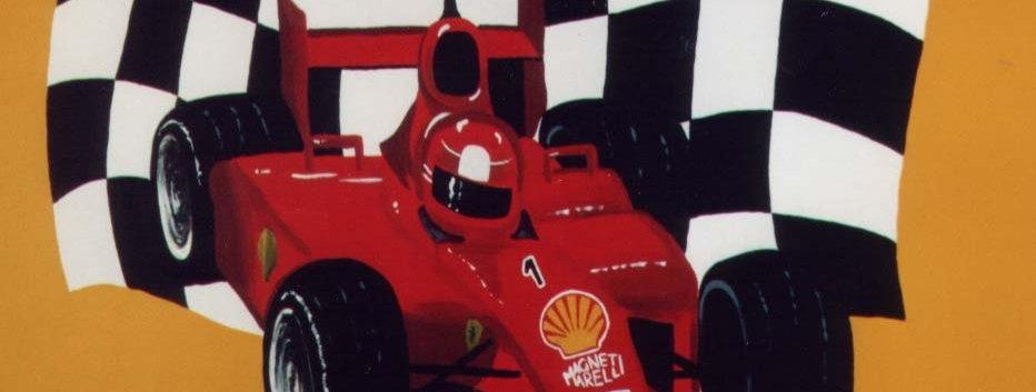 Ferrari F1 children's wall mural