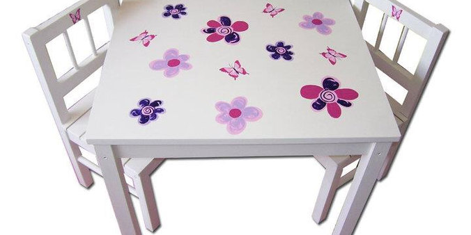 Children's flower table & chairs