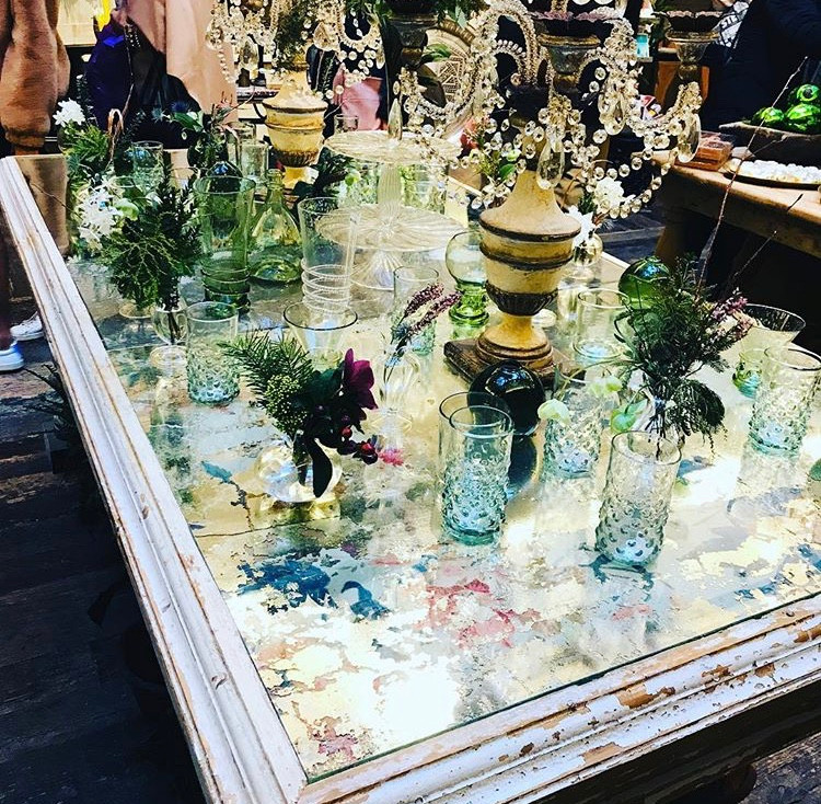 Vintage glass table