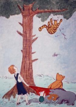 Winnie the Pooh bedroom mural