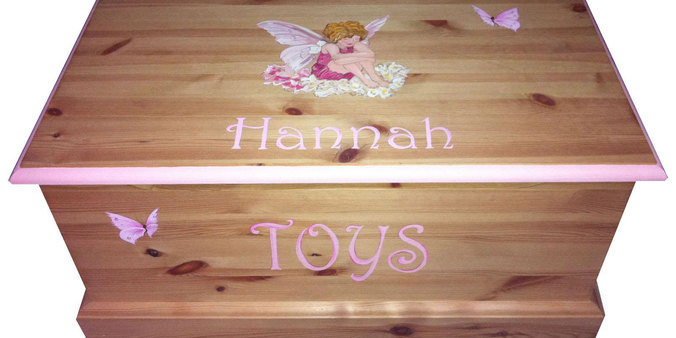 Flower fairies personalised toy box