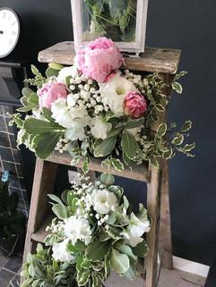 Fresh flower ladder display