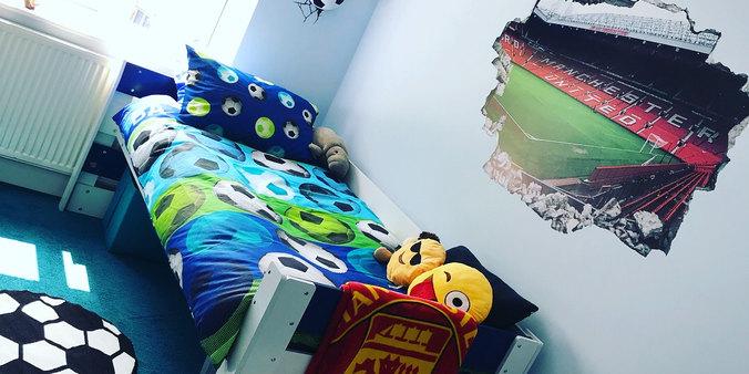 Football bedroom makeover