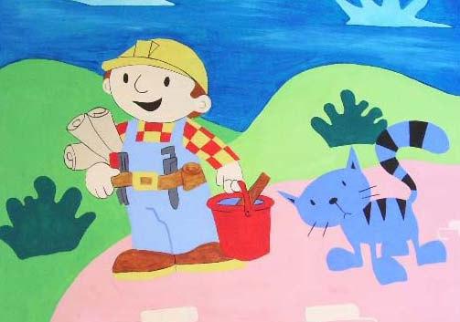 Bob the builder mural