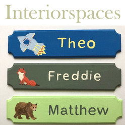 Personalised bedroom name plaque