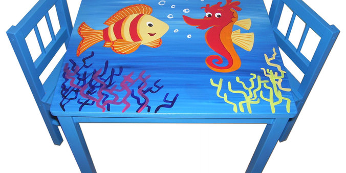 Children's under the sea table set