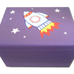 Rocket keepsake box