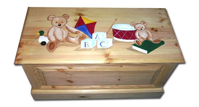 Victorian teddies toy box