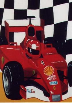 Ferrari F1 Mural