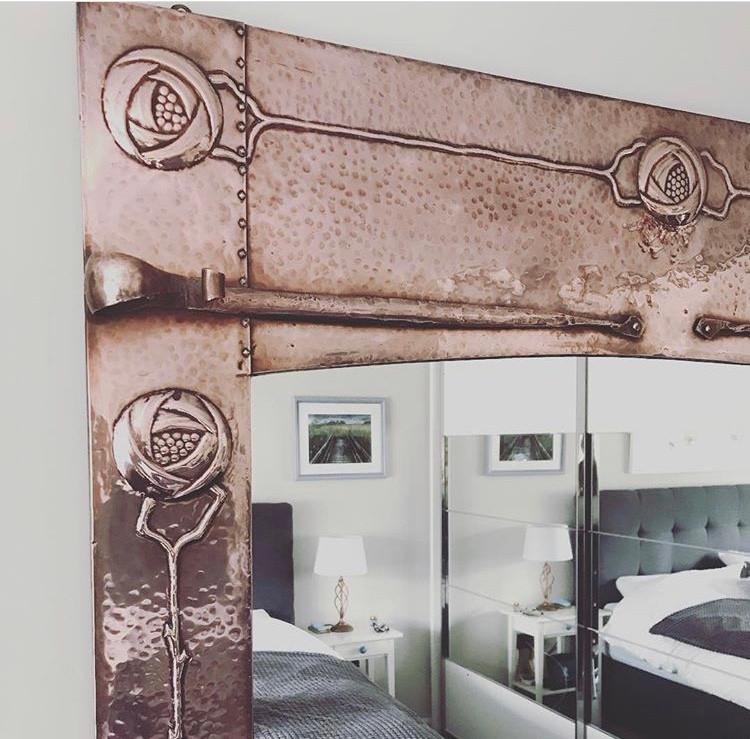 Keswick copper Arts & Crafts mirror