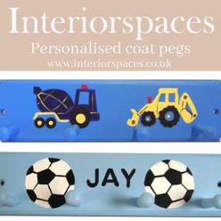 Personalised coat pegs