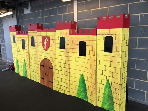 Cardboard castle prop