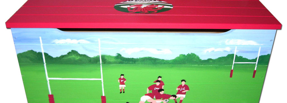 Personalised rugby toy box