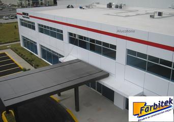 Fachada Oficinas de Obra Civil a terminada con Panel Alucotone ACP, Aluminio Compuesto