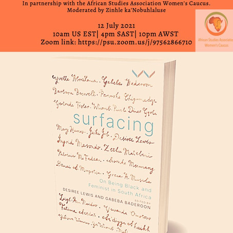 Book Launch for Surfacing: On Being Black and Feminist in South Africa