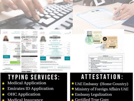 TYPING SERVICES & ATTESTATION SERVICES