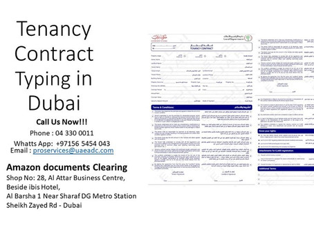 Tenancy Contract Typing in #Dubai