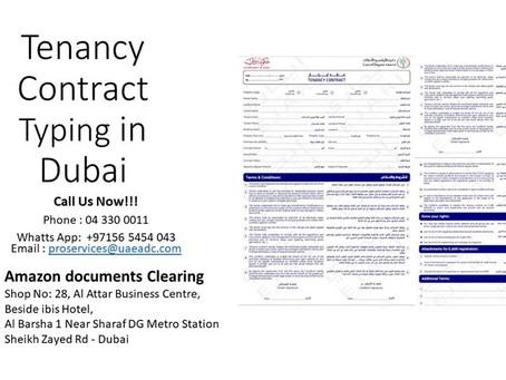 Tenancy Contract Typing in #Dubai