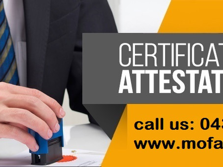 MOFA Ministry of Foreign Affairs and UAE Embassy Attestation Services