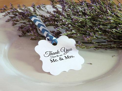 結婚式用サンキュータグ♥ブルー×Thank You