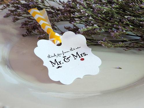 結婚式用サンキュータグ♥イエロー