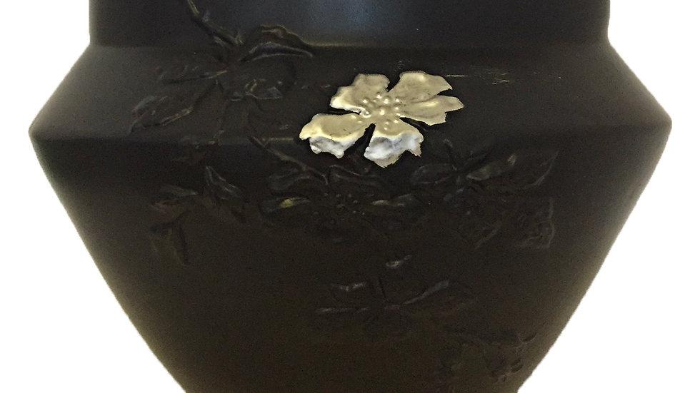 Vase Eglantine fleur argent