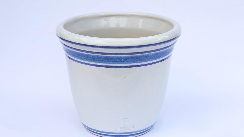Pot Florentine blanc à filets bleus (Versailles)