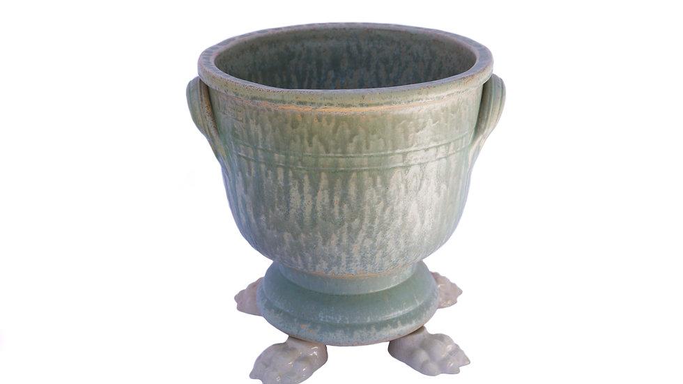 Pot Provence à anses, décor vert