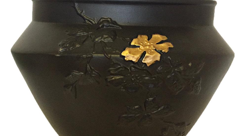 Vase Eglantine fleur or