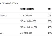 HMRC Employment tax bands