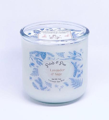 Large Lavender & Sage Spanish Jar