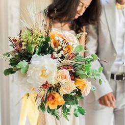 Wild bride bouquet