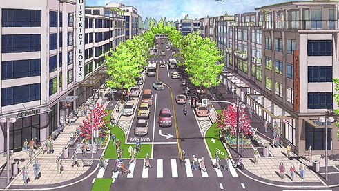 洛杉磯市中心步行環境設計Image via Complete Streets P