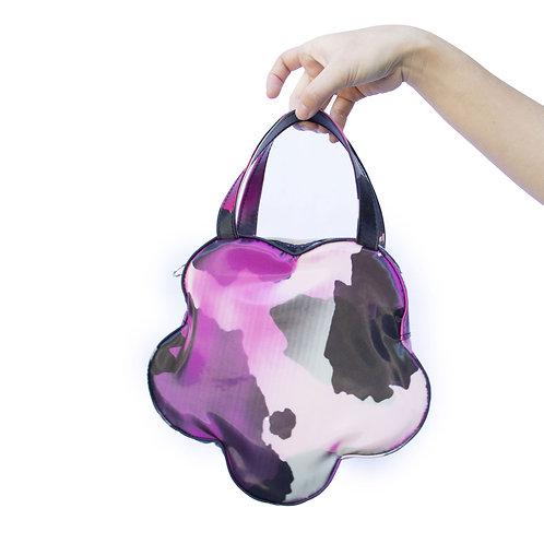 Holographic Pink Cow Flower Handbag