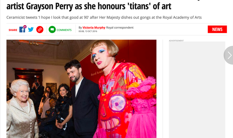 The Mirror- Grayson Perry meets Queen