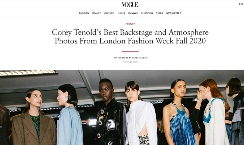 Corey Tenold - Vogue Runway