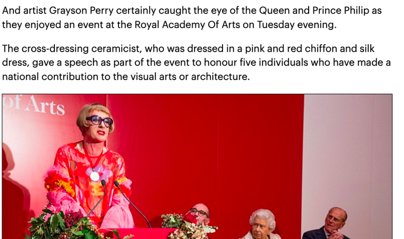 Daily Mail - Grayson Perry at RA with Royal Family