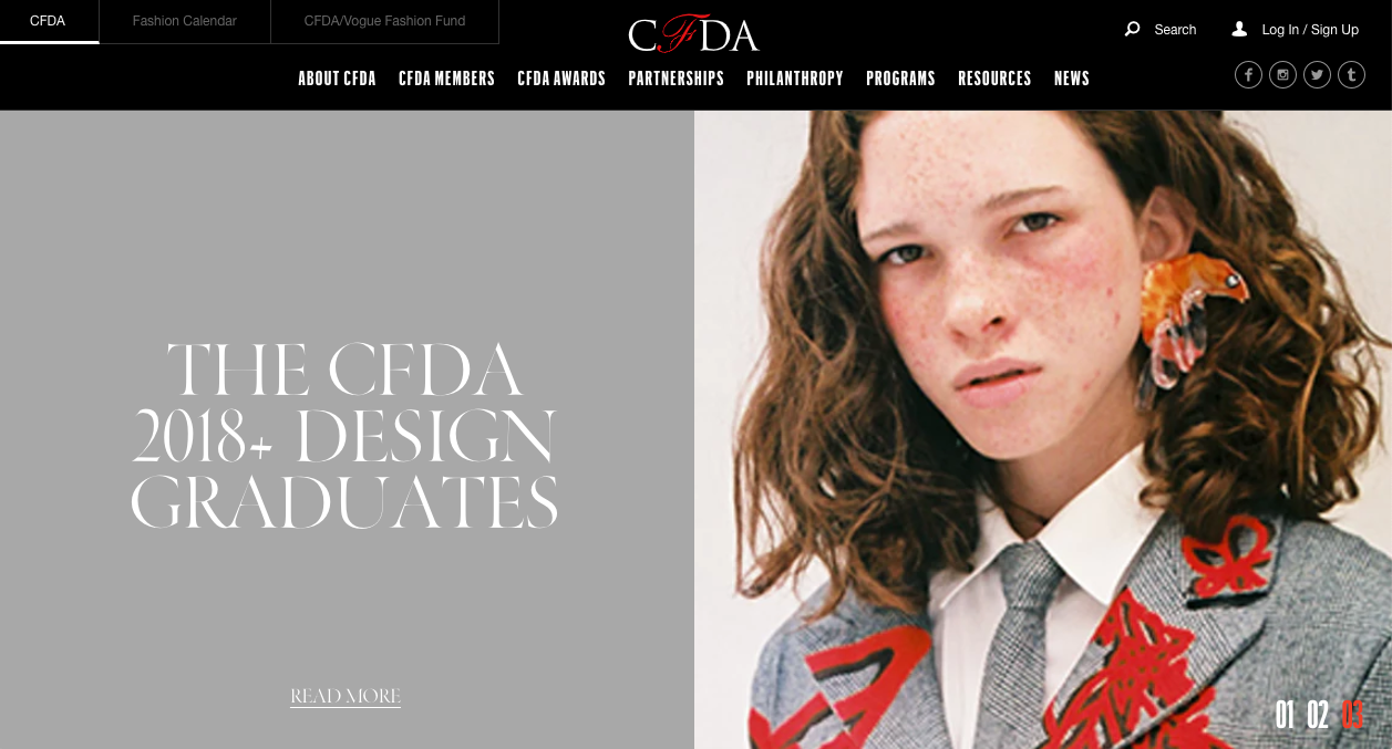 CFDA Front Page