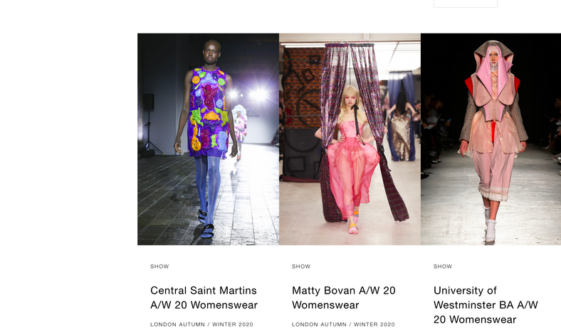ShowStudio London Fashion Week Front Page