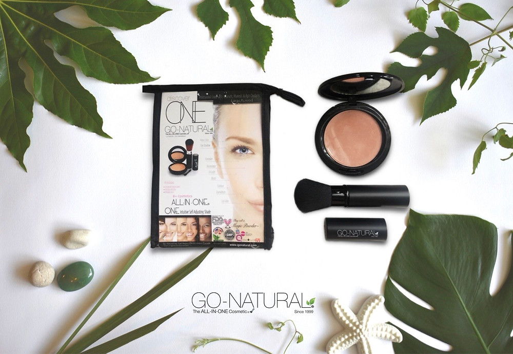 Go-Natural® The ALL-IN-ONE Cosmetic®  2 Level Compact with Travel Pouch L