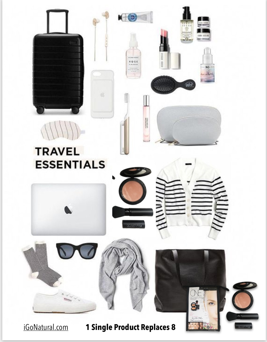 Travel Essential ~ 1 Single Product Replaces 8 - Go-Natural ALL-IN-ONE Cosmetic