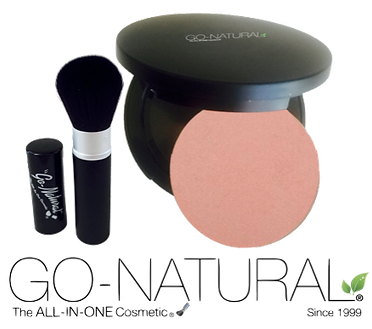 Go-Natural ALL-IN-ONE Cosmetic Magnetic Refillable with Brush Logo