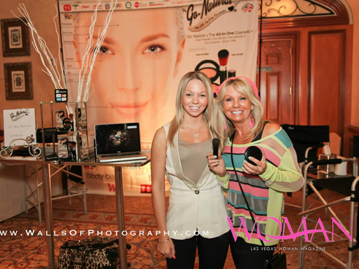 Go Natural All In One Magic Powder at Las Vegas Woman Magazine Winter Launch Event