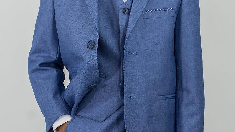 Boy's blue jay suit