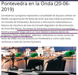 Entrevista Pontevedra en la Onda - Pinto e Maragota