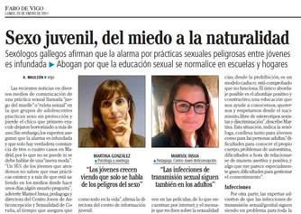 Sexo juvenil: del miedo a la naturalidad (Faro de Vigo / La Opinión)