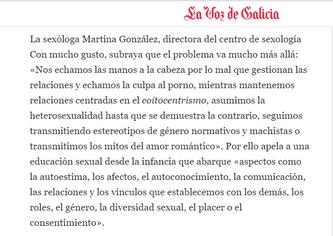 Cuando la educación sexual es el porno - La Voz de Galicia