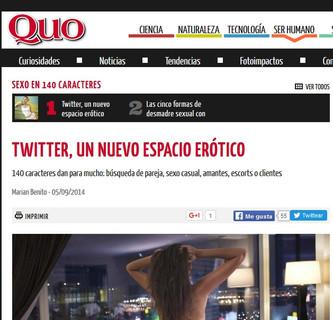 Twitter, un nuevo espacio erótico (Revista Quo)