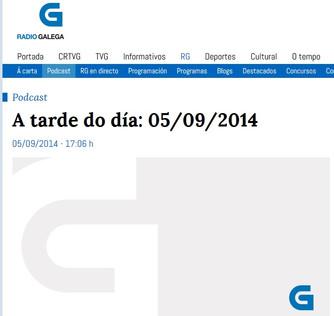 Entrevista en A Tarde do Día, Radio Galega